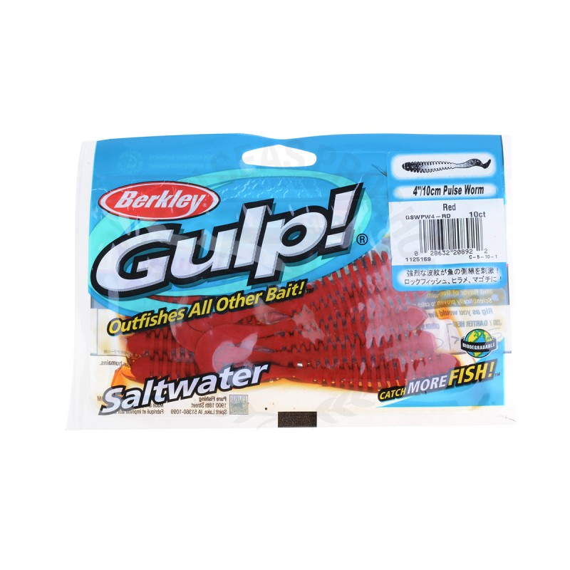 Berkley Gulp! Pulse Worm GSWPW4 #RD
