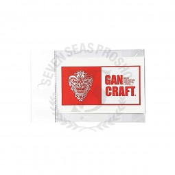 Gan Craft Sticker Square Logo #Red