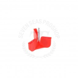 7seas Safety Cap Hook 10 Pcs. #Size L *Red