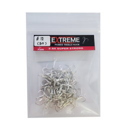 Tonnam Extreme Treble Hook Extra 3.5X *50pcs #12