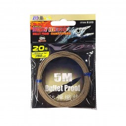 Pro-Hunter 7X7 Wire Core Iron Braid Bullet Proof 5m #no.20-250lbs