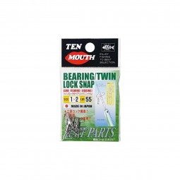 Ten Mouth Bearing Twin Lock Snap #1x2