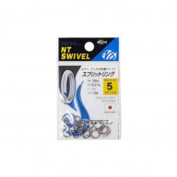 NT Swivel Split Rings Stainless Steel #5