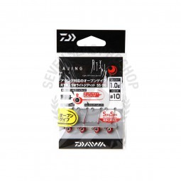 Daiwa Moonlight beauty SW light jig head SS OG #10 (1.0g.)