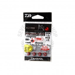 Daiwa Moonlight beauty SW light jig head SS OG #8 (1.5g.)