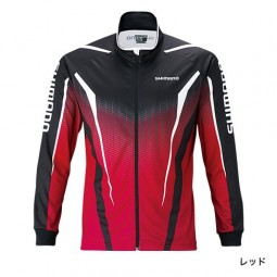Shimnao Full zip print shirt (long sleeves) SH-051S #Red-XL