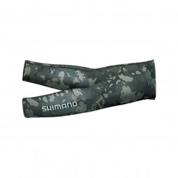 Shimano Sun protection arm cover AC-067Q #Black weed duck-S