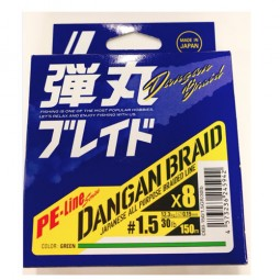 Major Craft DANGAN BRAID X8 150m-Green PE1.5
