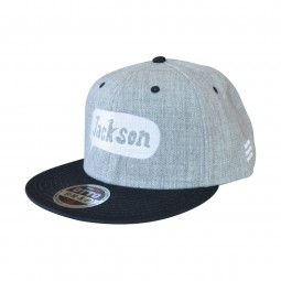 Jackson Snap Back Cap Balloon Logo Gray & Black