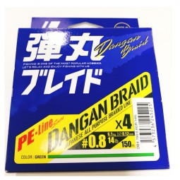 Major Craft DANGAN BRAID X4 Green-150m PE0.8