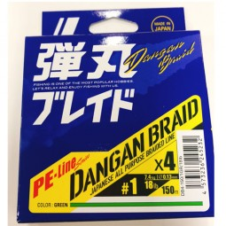 Major Craft DANGAN BRAID X4 Green-150m PE1