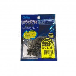 "Owner Tasty Worm Rock'N Bait Ring Twin Tail 1.5"" #RB-1-16"