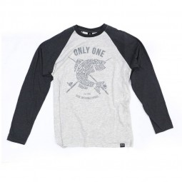 "Duo ""Only One"" Long T #Ash-Dark Gray (Size-XL)"