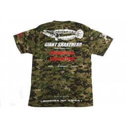 Bombada T-Shirt Giant Snakehead Dry Fit Short Sleeve Woodland #L