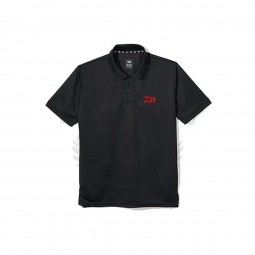 Daiwa Dry Mesh Polo Shirt ST-51119 #Black (Size-2XL)