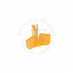 7Seas Safety Cap Hook 10 Pcs. #Size S *Yellow