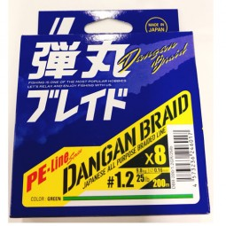 Major Craft DANGAN BRAID X8 200m-Green PE1.2