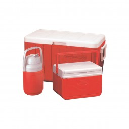 Coleman 3-Piece Cooler Combo 48QT #Red