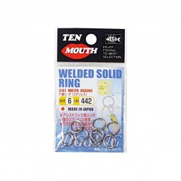 Ten Mouth Welded Solid Ring #6