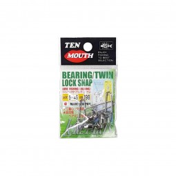 Ten Mouth Bearing Twin Lock Snap #5x4s