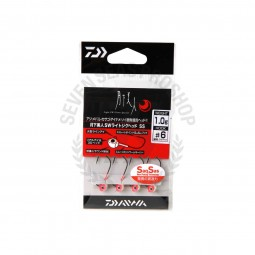 Daiwa Moonlight beauty SW light jig head SS #6 (1.0g.)