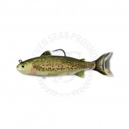 """Live Target Adult Trout Swimbait 7-1/2"""" #715-Olive / Red"""