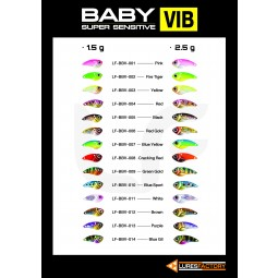 Lures Factory Baby Vib 1.5g #008-Cracking Red