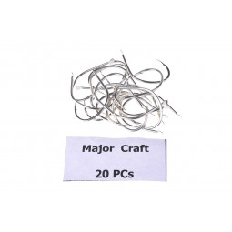 Major Craft ZOC Hook 20pcs #1/0*Jig Hook Stainless