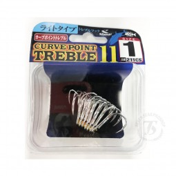 Shout Curve Treble Hook 11 *Silver *size 1