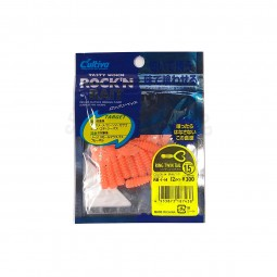 "Owner Tasty Worm Rock'N Bait Ring Twin Tail 1.5"" #RB-1-14"