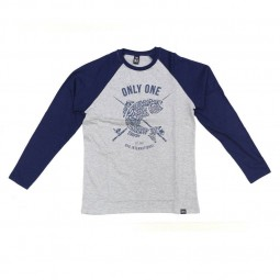 "Duo ""Only One"" Long T #Navy-Gray (Size-XL)"