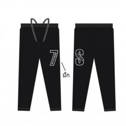 7S*กางเกง Pants Black Micro*19 size 3XL