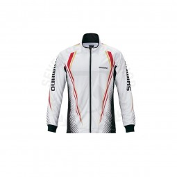 Shimano Full zip Long SH-051S White Red #2XL