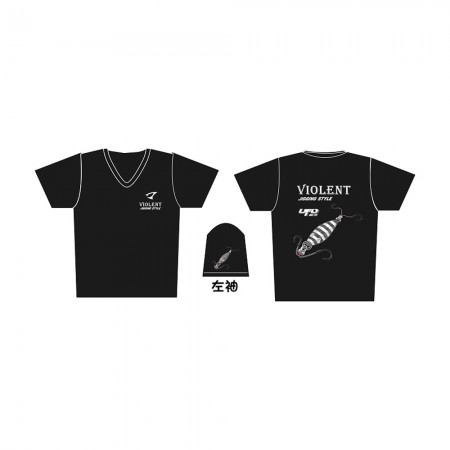 Jigging Master *17 UFO Violent Jigging Style Short Sleeve T-Shirt #L-Black
