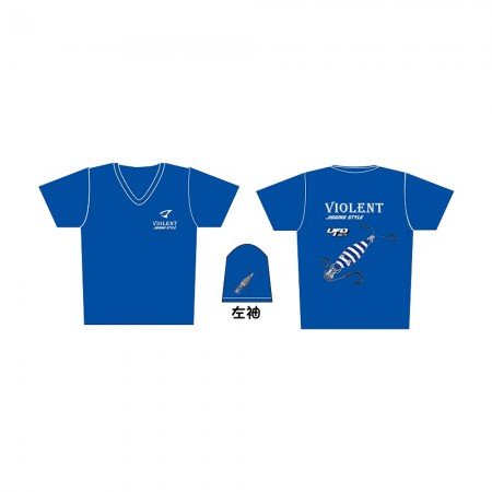 Jigging Master *17 UFO Violent Jigging Style Short Sleeve T-Shirt #L-Blue