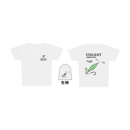 Jigging Master *17 UFO Violent Jigging Style Short Sleeve T-Shirt #L-White