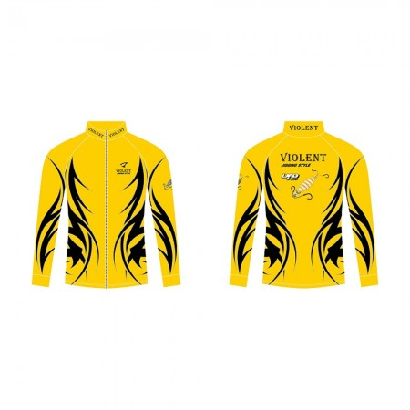 Jigging Master *17 UFO Violent Jigging Style Long Sleeve T-Shirt #M-Yellow/Black